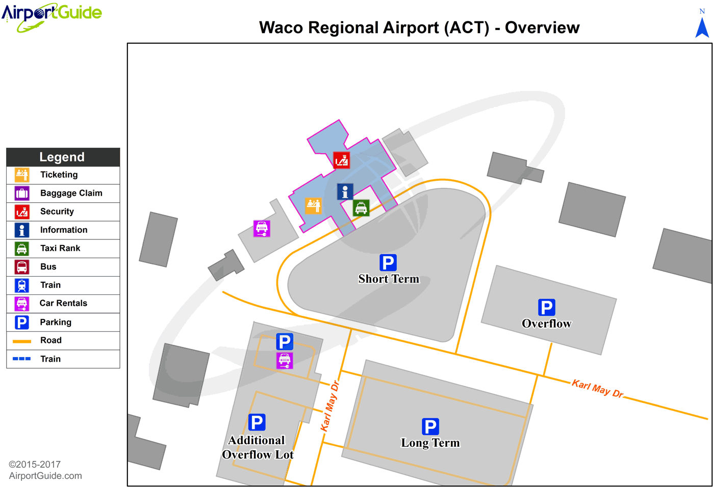 Waco - Waco Regional (ACT) Airport Terminal Map - Overview