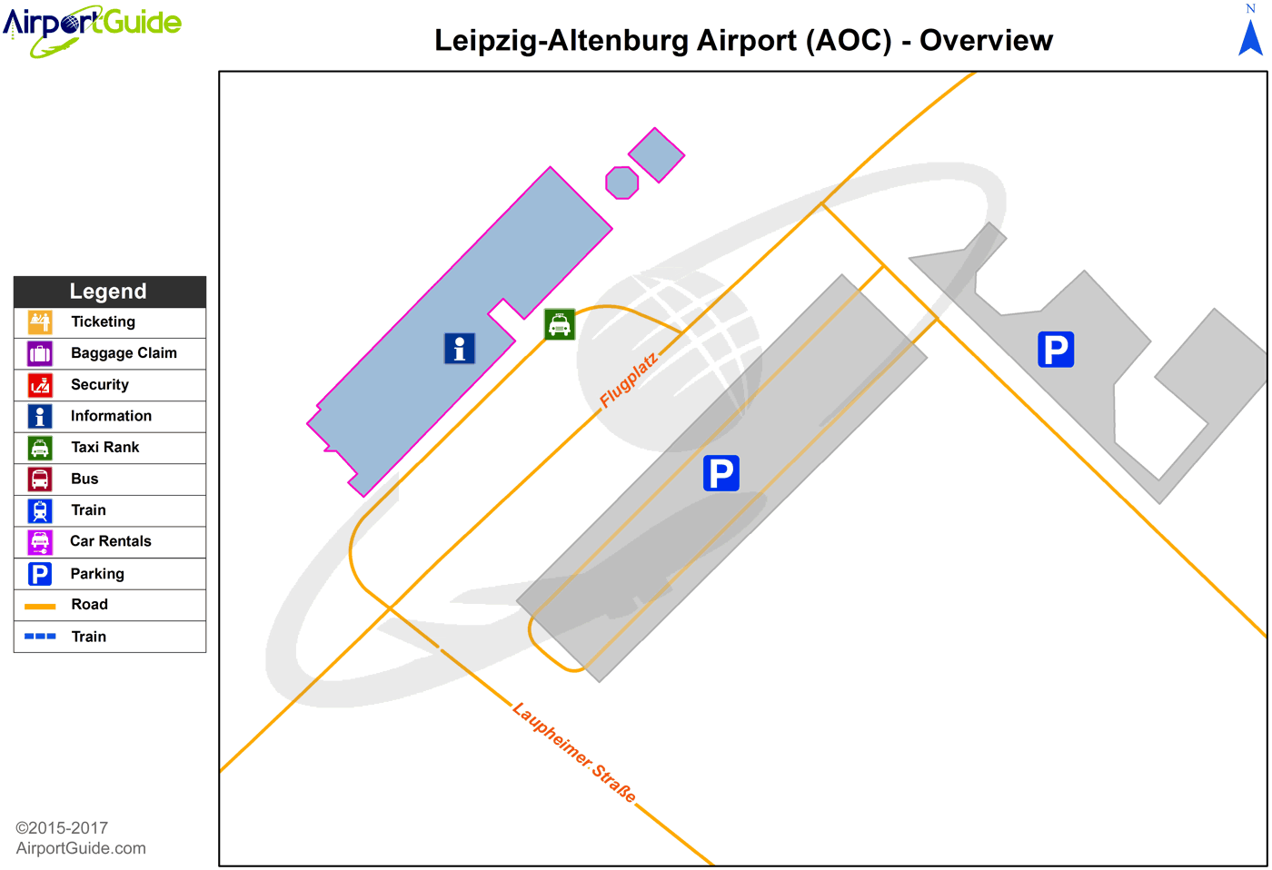 Altenburg - Leipzig-Altenburg (AOC) Airport Terminal Map - Overview