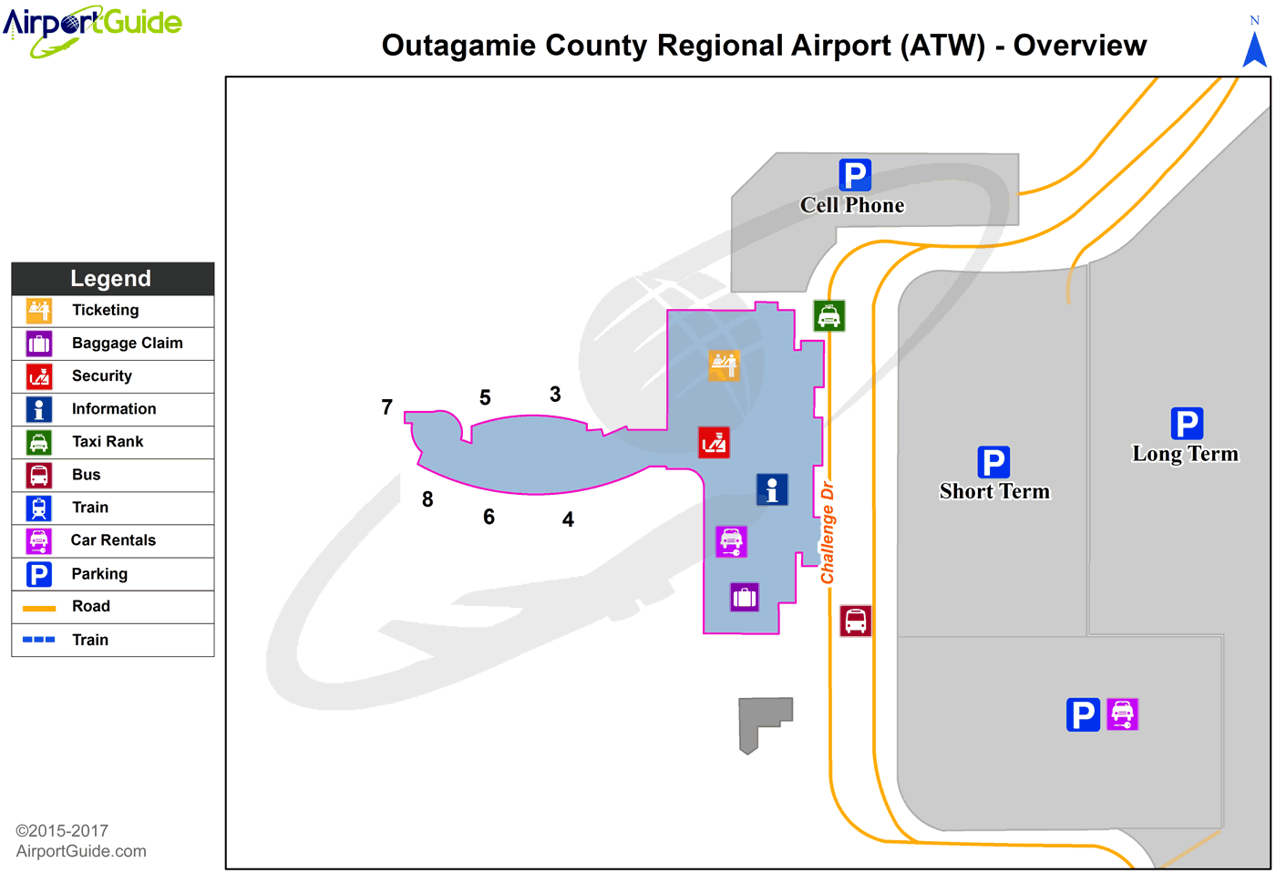 Appleton - Appleton International (ATW) Airport Terminal Map - Overview