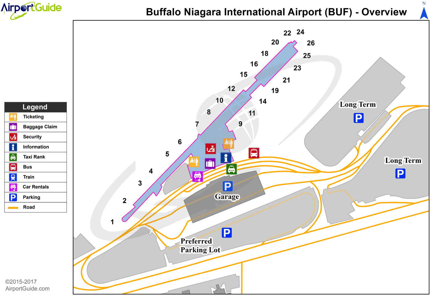 Buffalo - Buffalo Niagara International (BUF) Airport Terminal Map - Overview