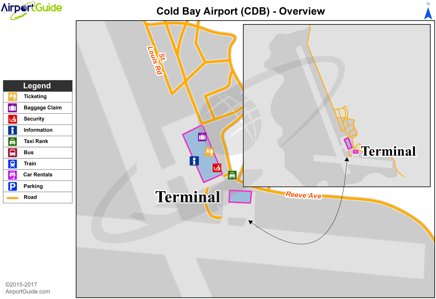 Cold Bay - Cold Bay (CDB) Airport Terminal Map - Overview