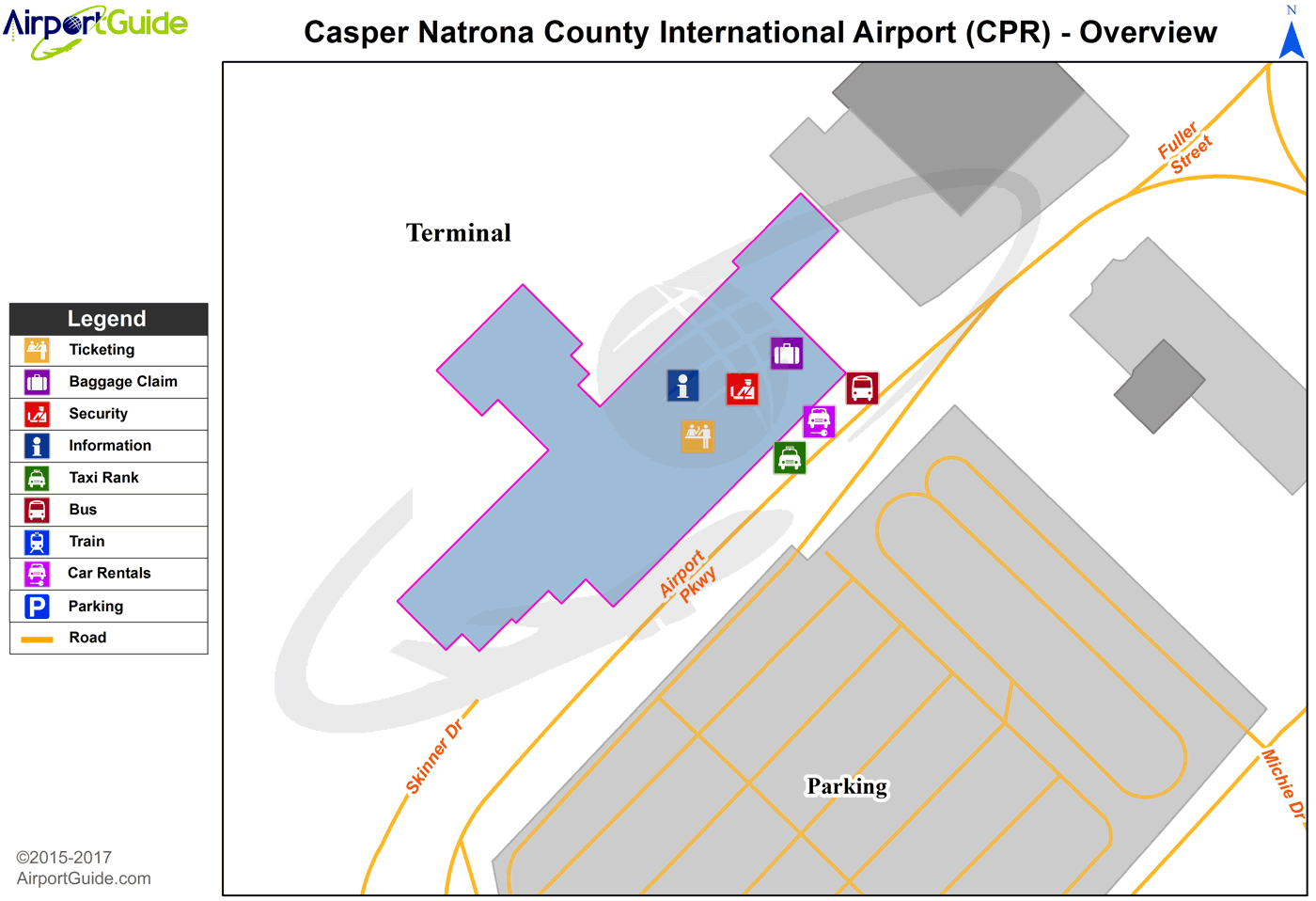 Casper - Casper/Natrona County International (CPR) Airport Terminal Map - Overview