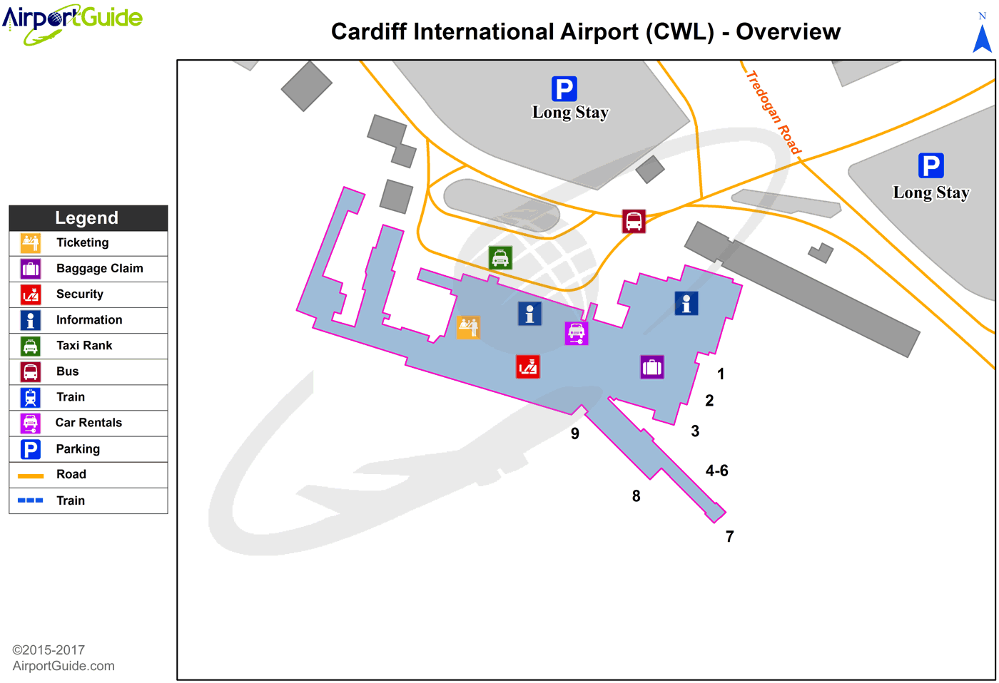 Cardiff - Bicester Airfield (CWL) Airport Terminal Map - Overview