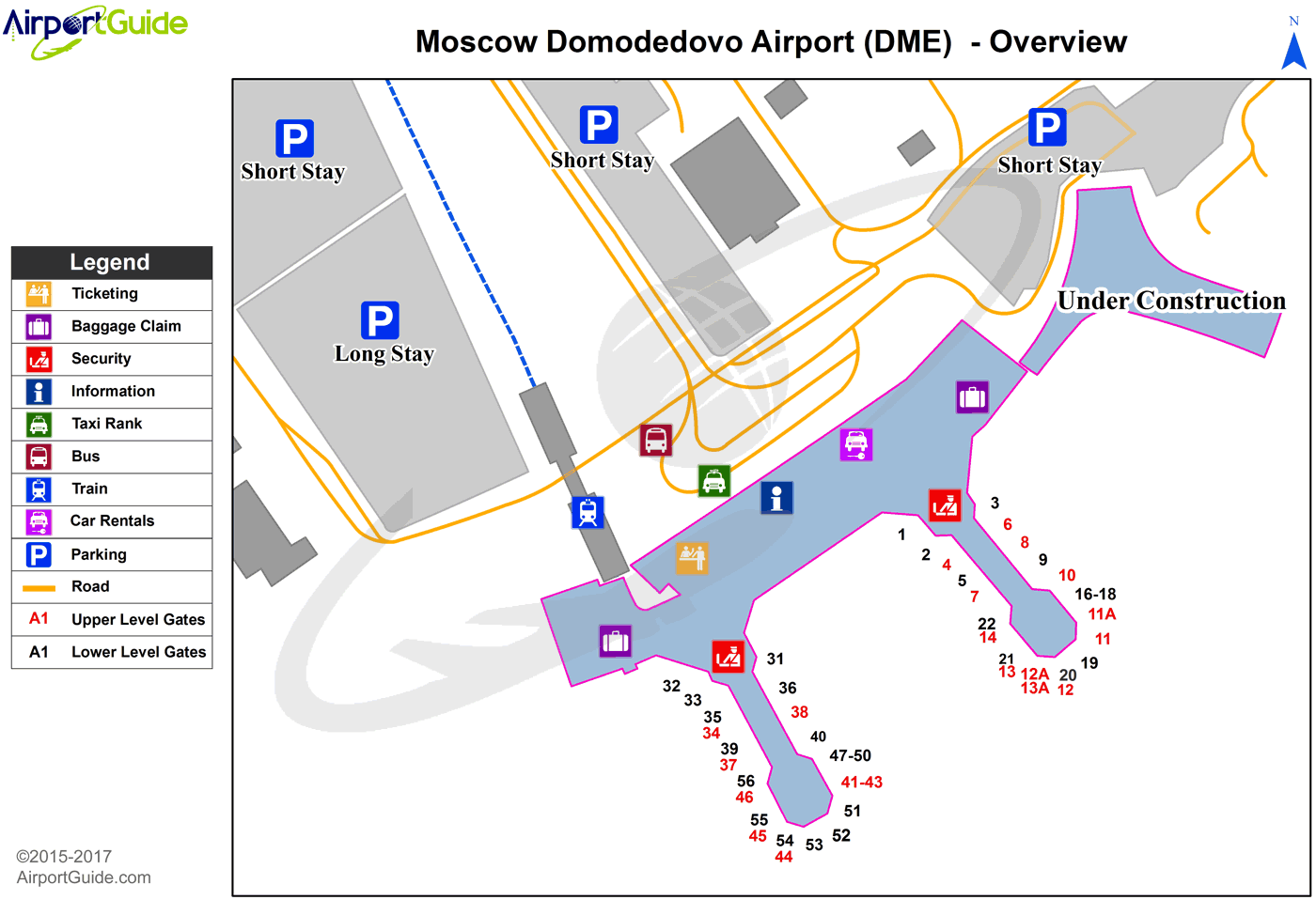 Moscow - Domodedovo International (DME) Airport Terminal Map - Overview