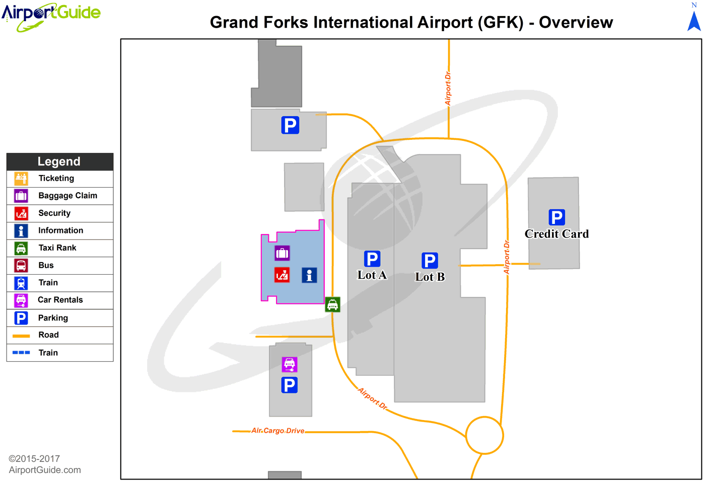 Grand Forks - Grand Forks International (GFK) Airport Terminal Map - Overview