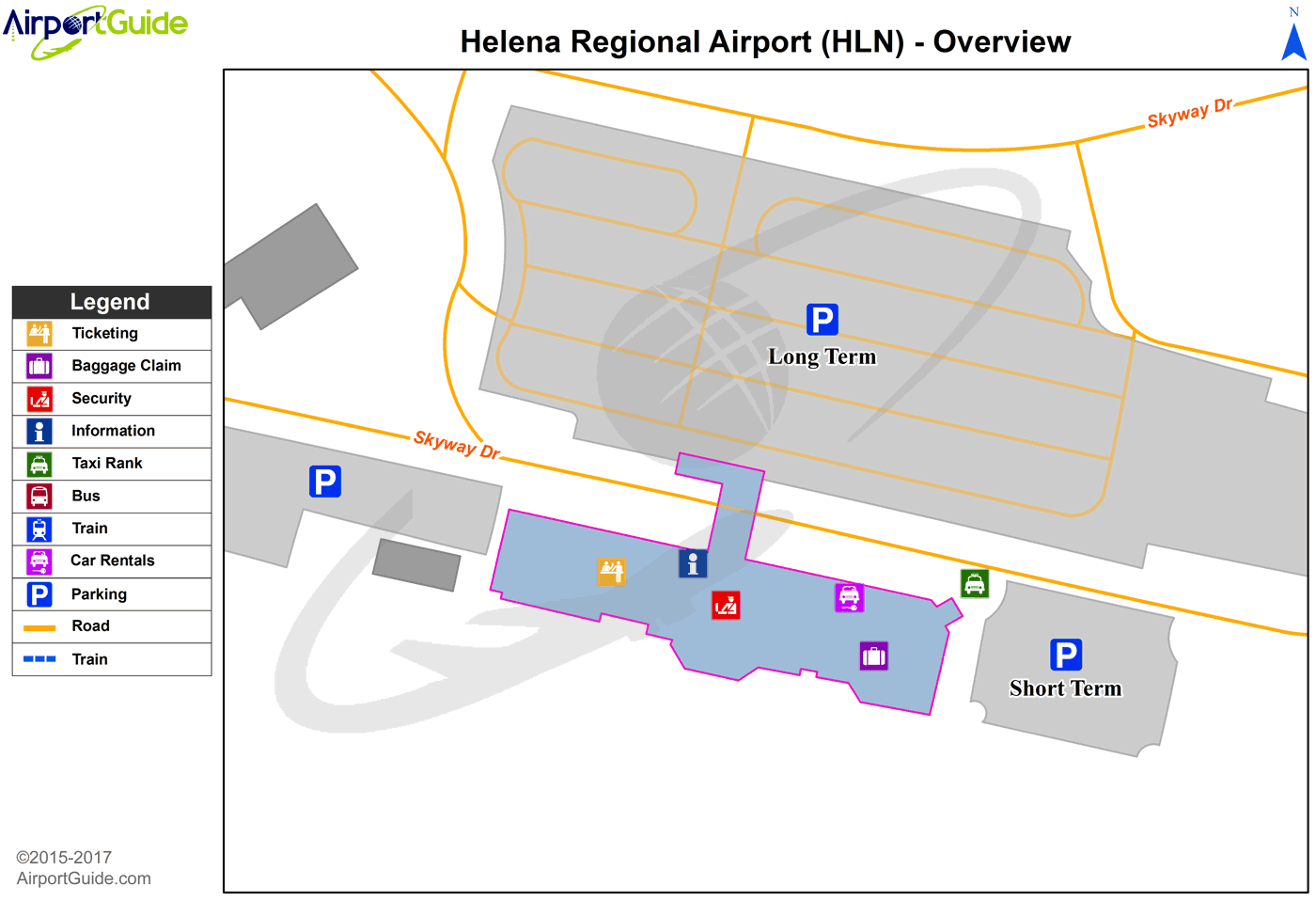 Helena - Helena Regional (HLN) Airport Terminal Map - Overview