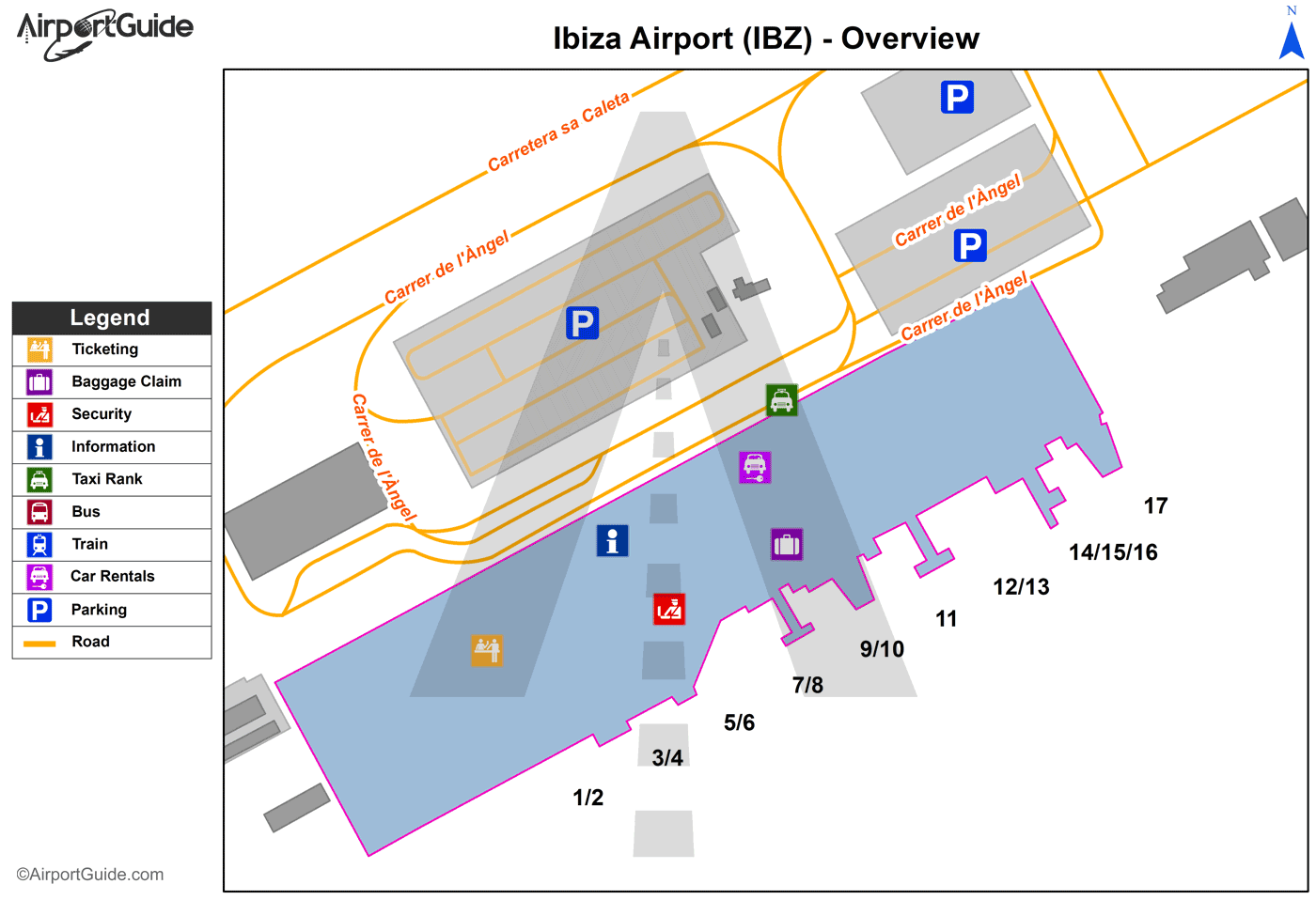 Ibiza - Ibiza (IBZ) Airport Terminal Map - Overview