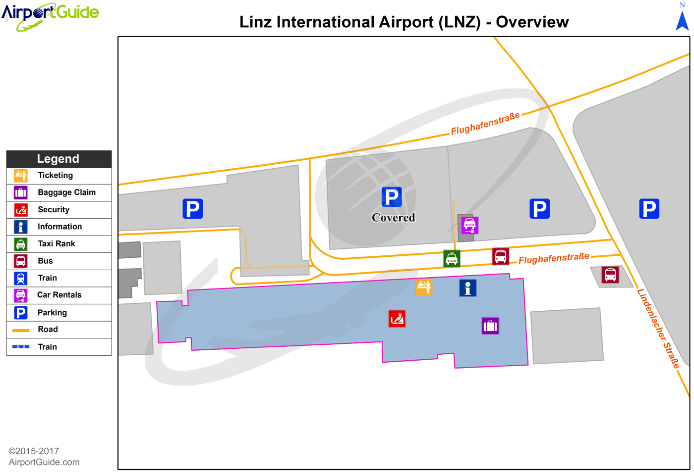 Linz - Linz (LNZ) Airport Terminal Map - Overview
