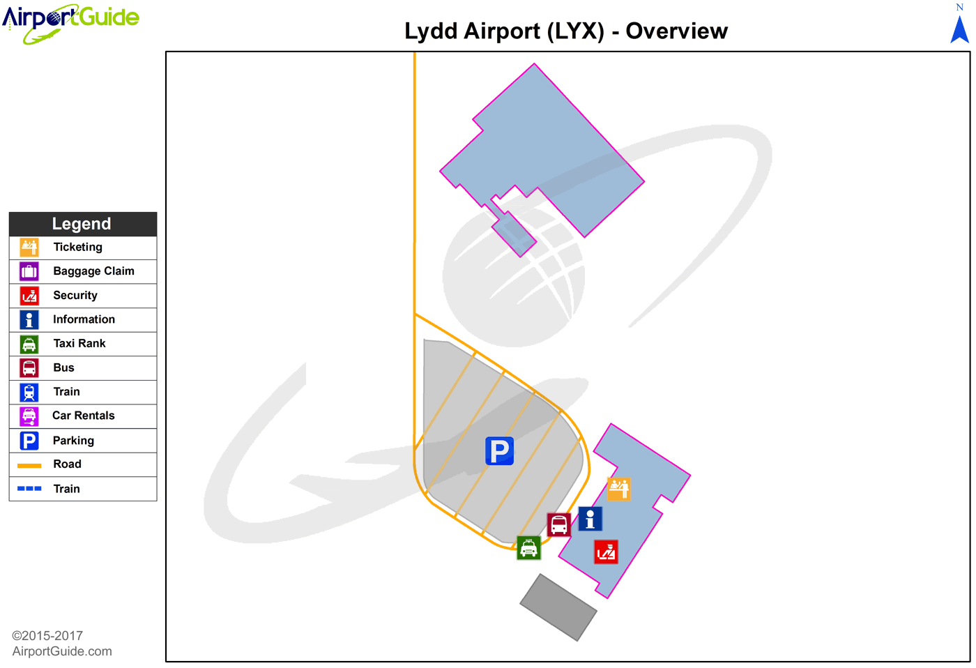 Lydd - Lydd (LYX) Airport Terminal Map - Overview