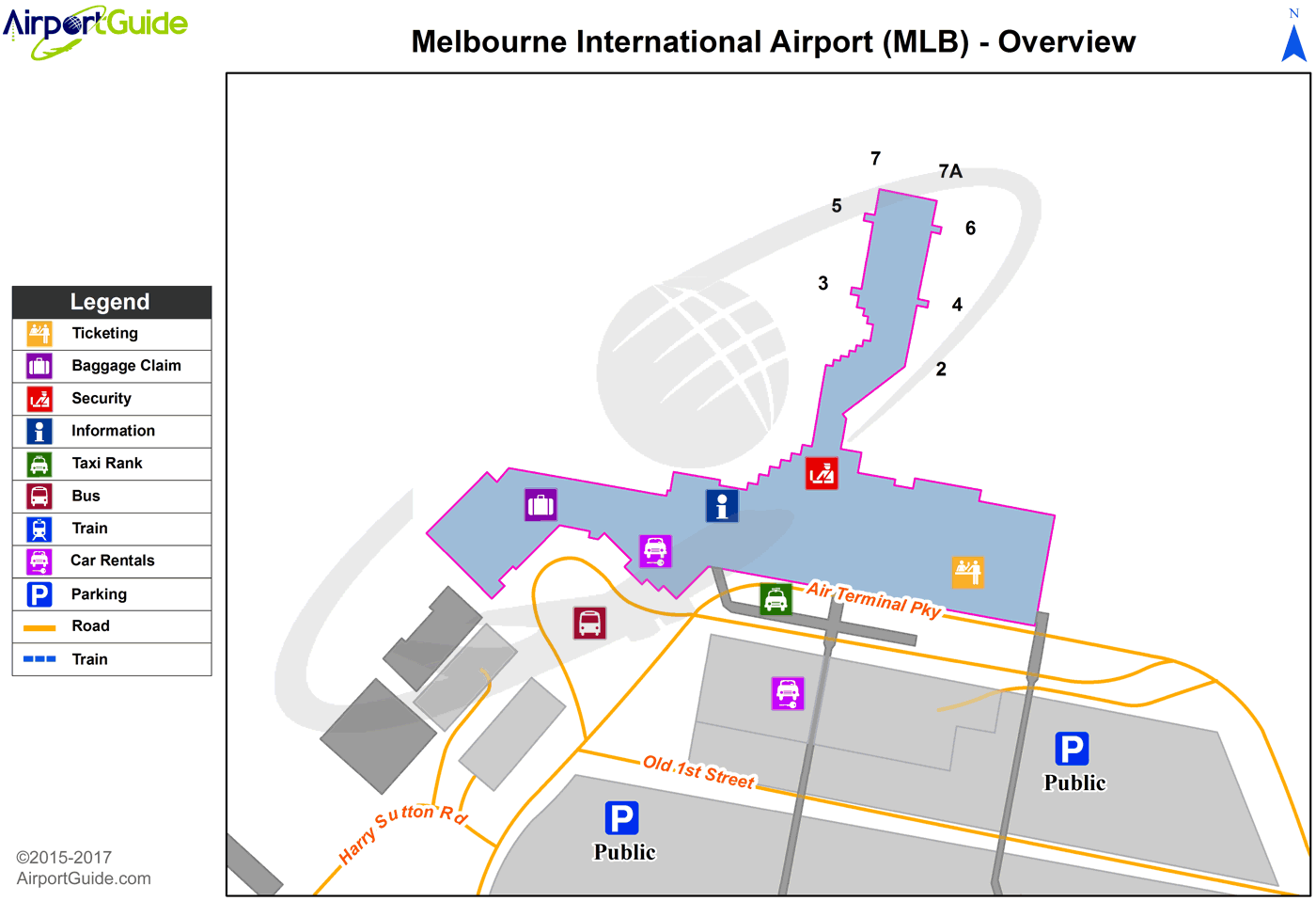 Melbourne - Melbourne International (MLB) Airport Terminal Map - Overview