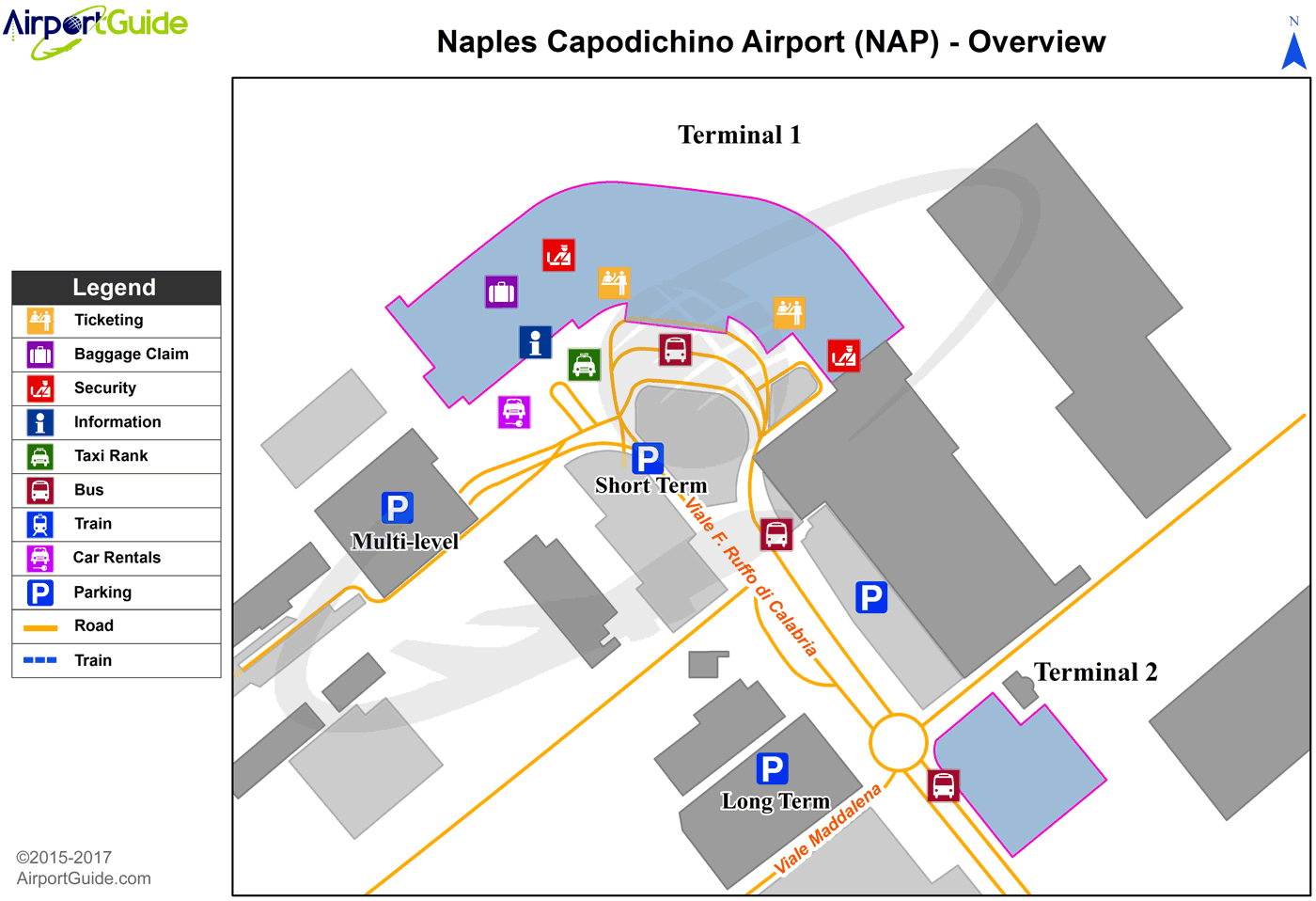 Nápoli - Naples International Airport (NAP) Airport Terminal Map - Overview