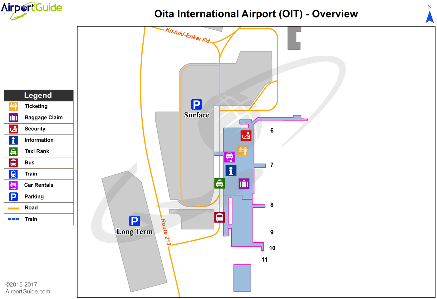 Oita - Oita (OIT) Airport Terminal Map - Overview