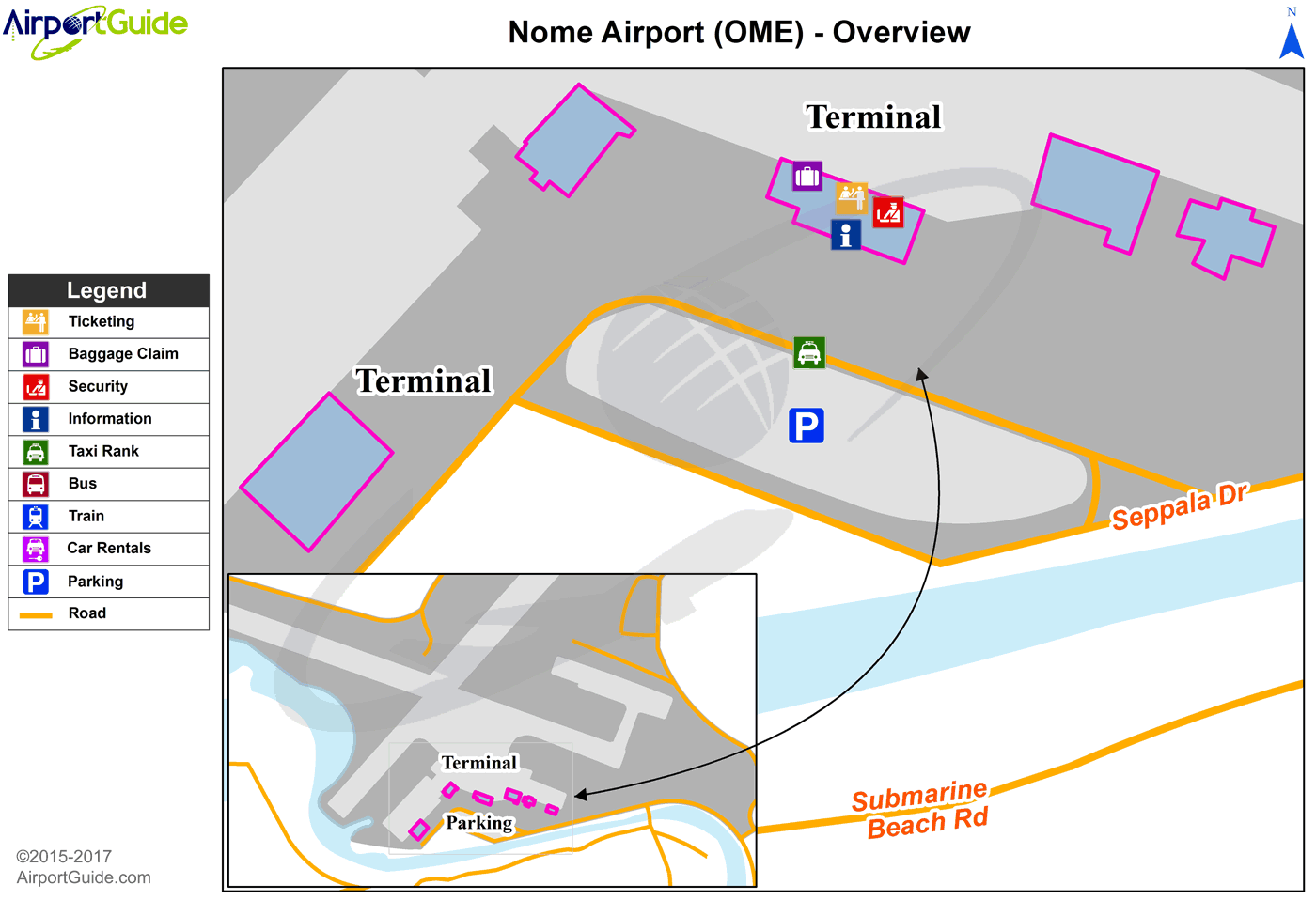 Nome - Nome (OME) Airport Terminal Map - Overview