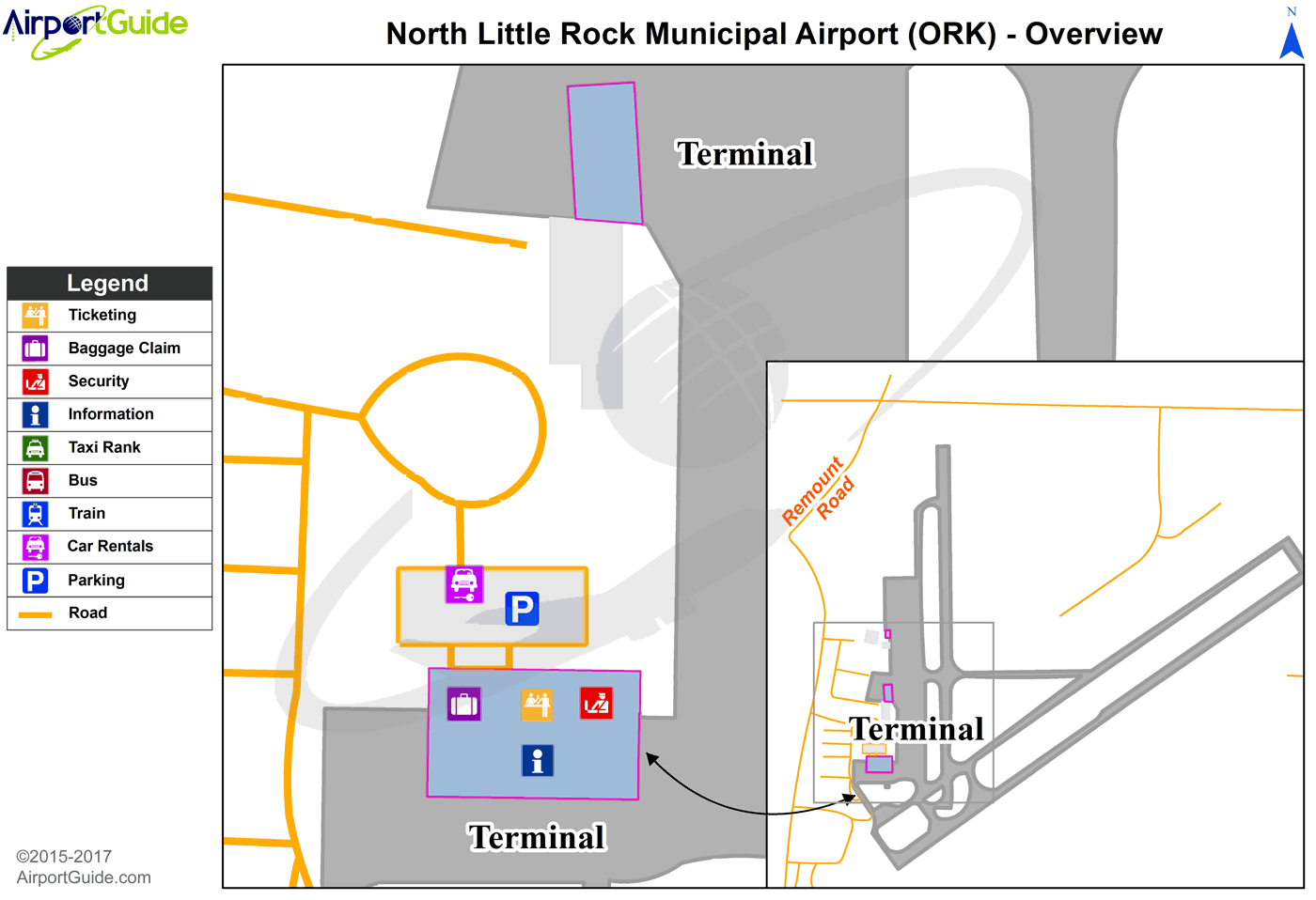 Cork - Cork (ORK) Airport Terminal Map - Overview