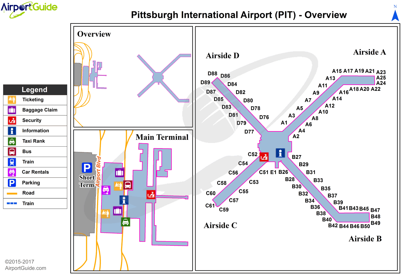 Pittsburgh - Joseph A Hardy Connellsville (PIT) Airport Terminal Map - Overview