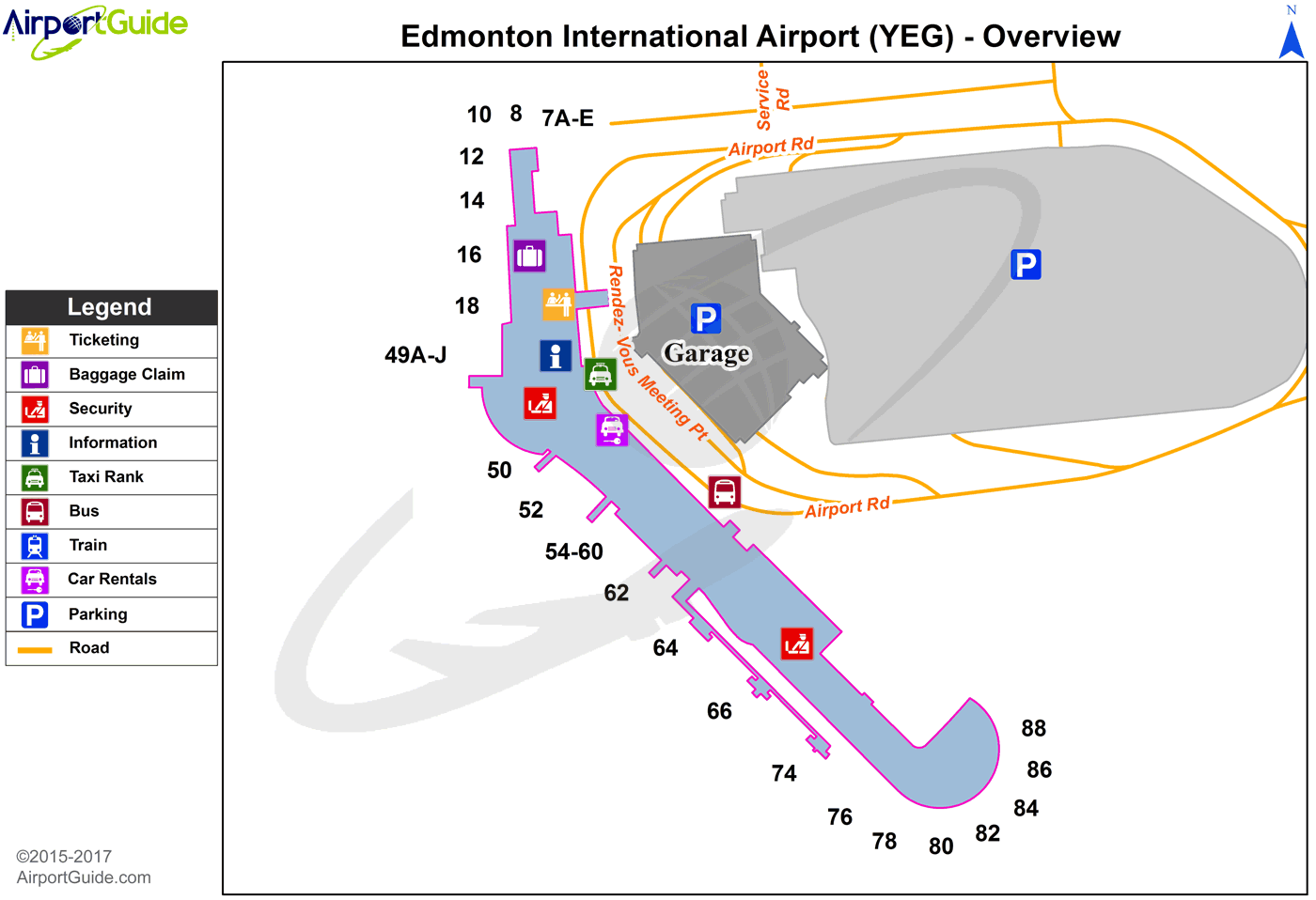 Edmonton - Edmonton International Airport (YEG) Airport Terminal Map - Overview